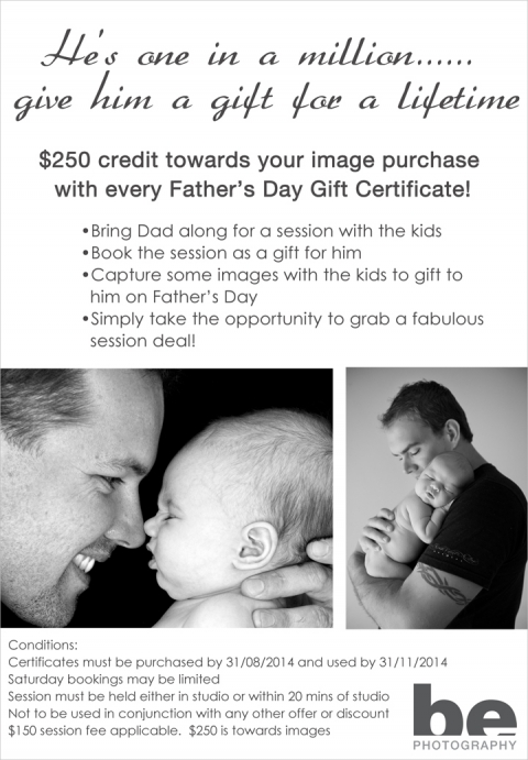 Father's Day photography offer