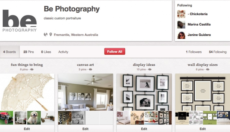 be photography pinterest page