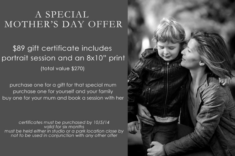 Mothers day photography offer