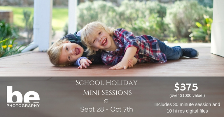 school holiday photography mini sessions
