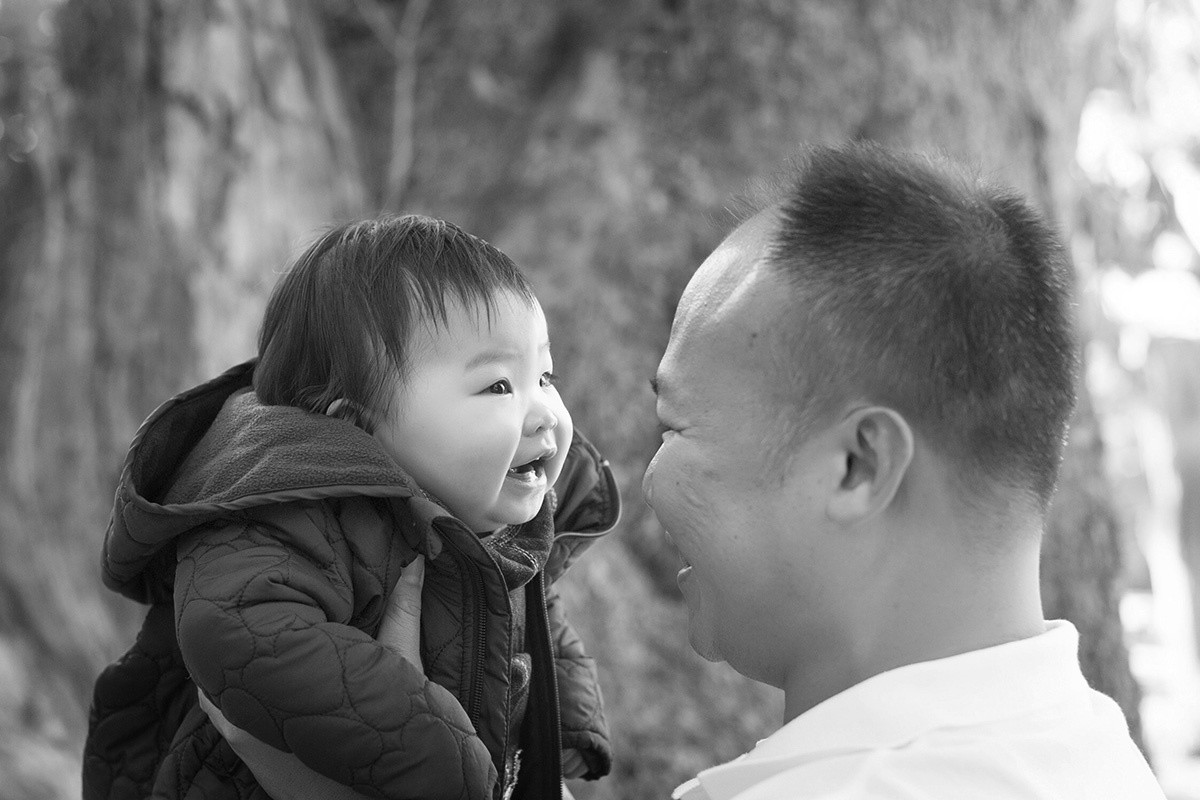 Baby portrait with mum