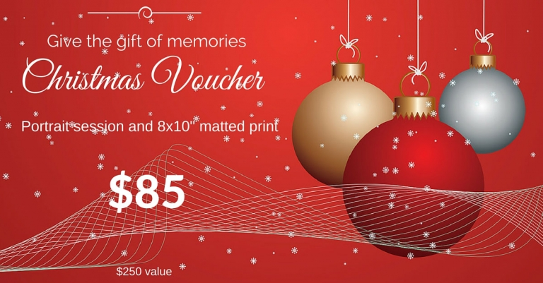 Photography gift voucher for christmas